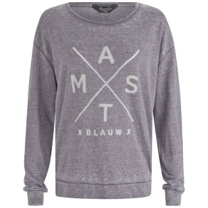 Maison Scotch Women's Print Sweatshirt - Grey
