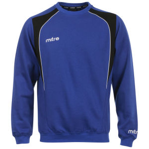 Men's Mitre Baxter Fleece Sweat Top - Blue