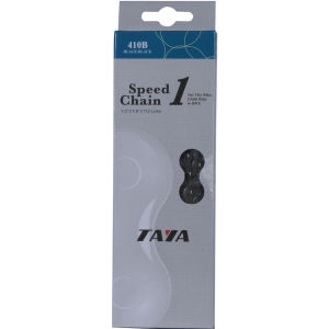 Taya 410B 112L Single Speed Bicycle Chain - Black/Black