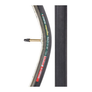 Vittoria Rally Tubular Road Tyre Black 28in x 21mm + FREE Inner Tube