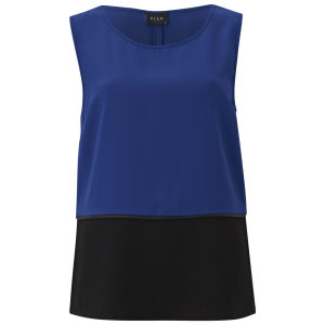 VILA Women's Argon Contrast Top - Cobalt