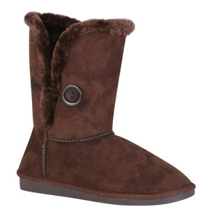Red Rock Women's Ugg Style Faux Sheepskin Boots - Chocolate