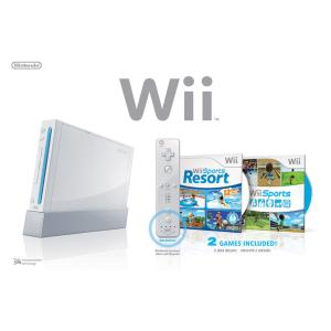 Wii Console (Including Wii Sports and Sports Resort With Motion Plus)