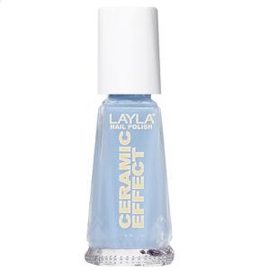 Layla Cosmetics Ceramic Effect Nail Polish N.18 Italian Blue Sky (10ml)