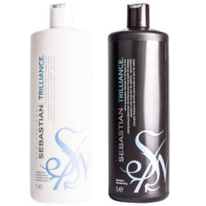 Sebastian Professional Trilliance Shampoo and Conditioner (2x1000ml - Worth $177)