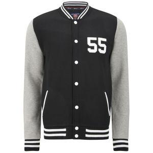 55 Soul Men's Manning Baseball Jacket - Black/Grey