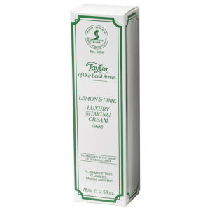 Taylor of Old Bond Street Shaving Cream Tube (75 g) - Lemon and Lime