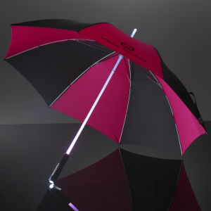 View Quest LED Umbrella - Black/Pink