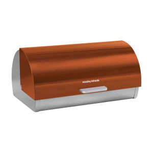 Morphy Richards Accents Roll Top Bread Bin - Copper