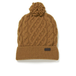 Barbour Cable Knit Beanie Hat - Cinnamon