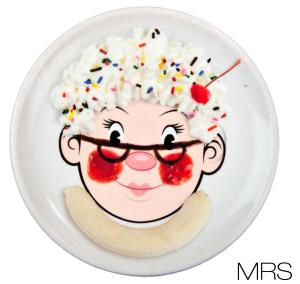 Mrs Food Face Dinner Plate