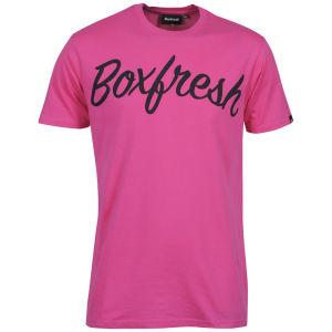 Boxfresh Men's Leopon T Shirt - Fuchsia Purple