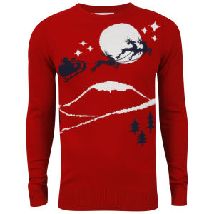 Brave Soul Men's Dasher Jumper - Red