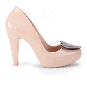 Mel Women's Raspberry Heart 2 Heels - Nude Contrast
