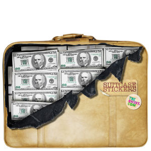 Suitcase Stickers - Money