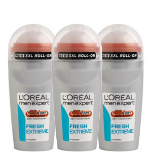 Trio de Desodorizantes Roll-On Men Expert Fresh Extreme da L'Oreal Paris (50 ml)
