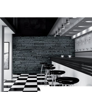 Black and Grey Slate Effect Wall Mural