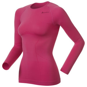 Odlo Evolution Light Long Sleeve Crew Neck Base Layer - Magenta