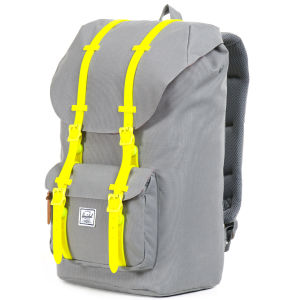 Herschel Supply Co. Little America Backpack - Grey/Yellow Rubber: Image 2
