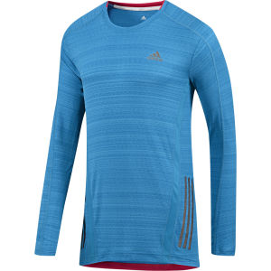 adidas Men's Supernova Running Long Sleeve Top - Solar Blue