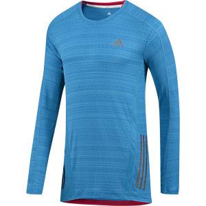 adidas Men's Supernova Running Long Sleeve Top - Solar Blue