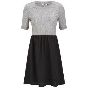 Only Women's Abel Contrast Skater Dress - Light Grey/Black