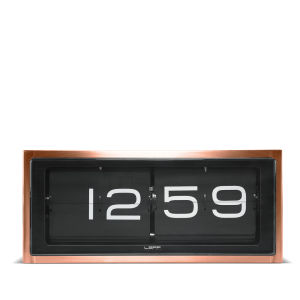 LEFF Amsterdam Brick 24 Hour Clock - Copper