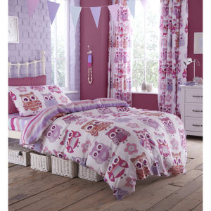 Simple Catherine Lansfield Owl Bedding Set Multi