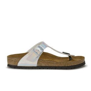 Birkenstock Women's Gizeh Toe-Post Metallic Sandals - Mirror Silver