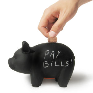 Capitalist Pig Chalk Board Piggy Bank