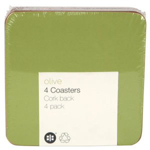 Olive Set of 4 Coasters