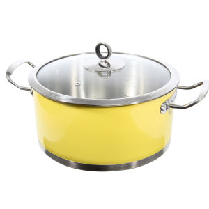 Morphy Richards Accents 24cm Caserole Dish - Yellow