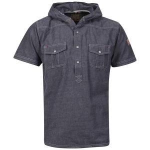 Brave Soul Men's Luchan Double Hood Shirt - Denim