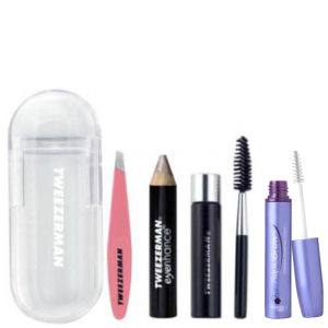 Dúo de productos para las cejas The Ultimate (RapidBrow and Tweezerman Mini Brow Rescue Kit).