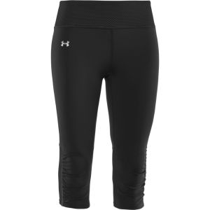 Under Armour Women's Fly-By Compression Capri - Black/Reflective