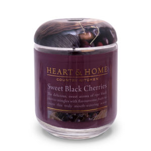 Heart & Home Sweet Black Cherries - Large Jar Candle