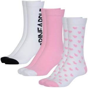 Pineapple Womens Ankle Socks - Logos and Heart and Design