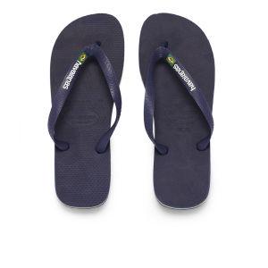 Havaianas Brasil Logo Flip Flops - Navy Blue