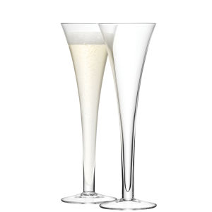 LSA Bar Hollow Stem Champagne Flutes - 200ml (Set of 2)