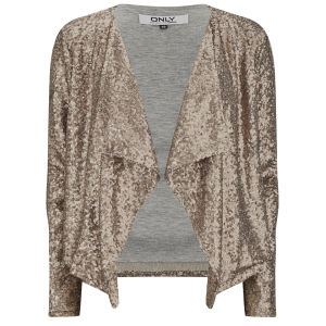 ONLY Women's Trudy Waterfall Sequin Jacket - Copper