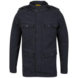 Brave Soul Men's 3/4 Length Oxford Jacket - Charcoal