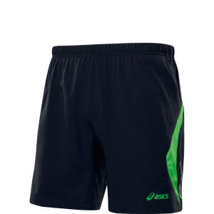 Asics Men's Pace Woven Shorts - Black/Power Green