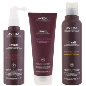 Aveda Invati Trio- Shampoo, Balsamo & Scalp Revitalizer