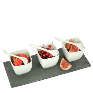 Schiefertafel Tapas Set, 7 tlg von Natural Living