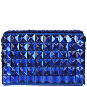 French Connection Bright Neon Clutch - Deep Blue