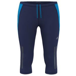 adidas Women's Supernova 3/4 Length Running Tights - Night Blue/Solar Blue