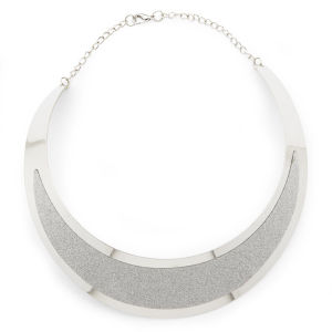 Impulse Women's Structured Necklace - Silver