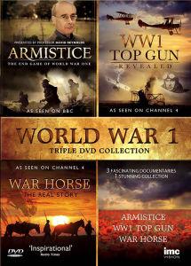 WW1 Triple DVD Box Set: Armistice, War Horse and WW1 Top Gun Revealed