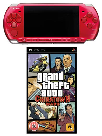PSP 3000 Red: Bundle (including GTA Grand Theft Auto ...