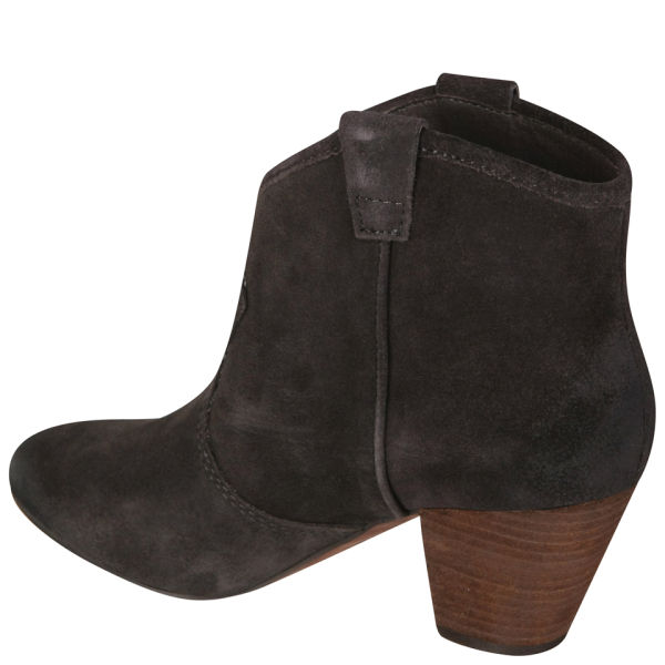 Ash Women&39s Jalouse Calf Suede Heeled Ankle Boots - Woodash - FREE